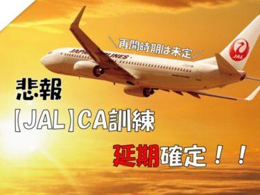 【速報】JAL CA訓練の延期を決定!