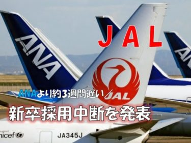 JALの採用中断発表について思うこと